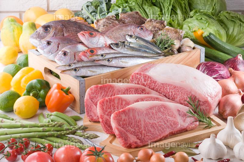 生鮮食品集合イメージ】の画像素材(13805244) | 写真素材ならイメージナビ