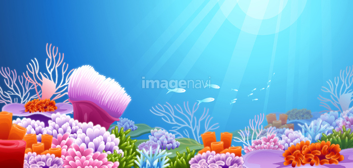 海底 珊瑚礁 イソギンチャク 光線 野生 カラフル の画像素材 イラスト素材ならイメージナビ