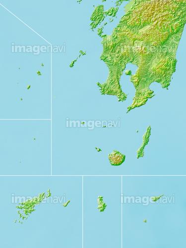 鹿児島県大隅諸島地図】の画像素...