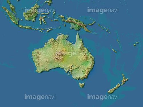 オーストラリア大陸】の画像素材...