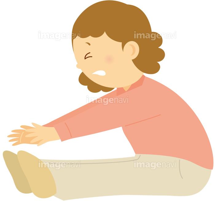 柔軟体操-女性】の画像素材(14403178) | イラスト素材ならイメージナビ