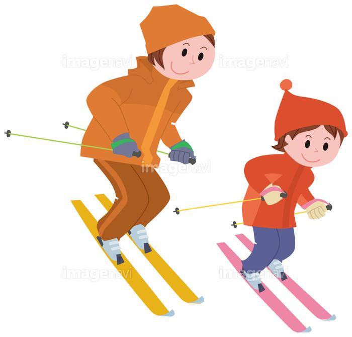 スキーをする親子の画像素材14404493 イラスト素材ならイメージナビ