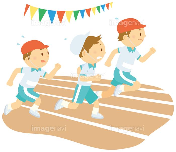 運動会の徒競走 の画像素材 イラスト素材ならイメージナビ