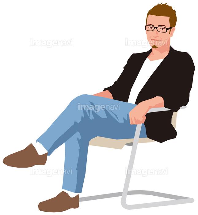 に 座る イラスト 椅子 椅子に座る人のアイコン
