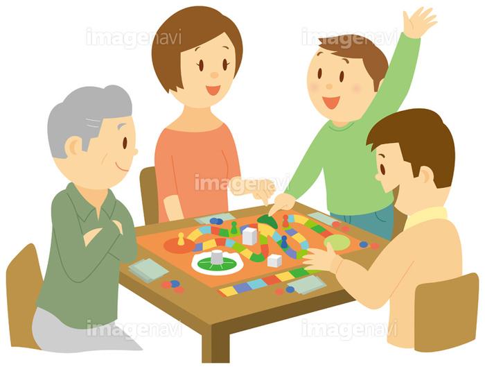 ボードゲームをする三世代家族の画像素材14405889 イラスト素材