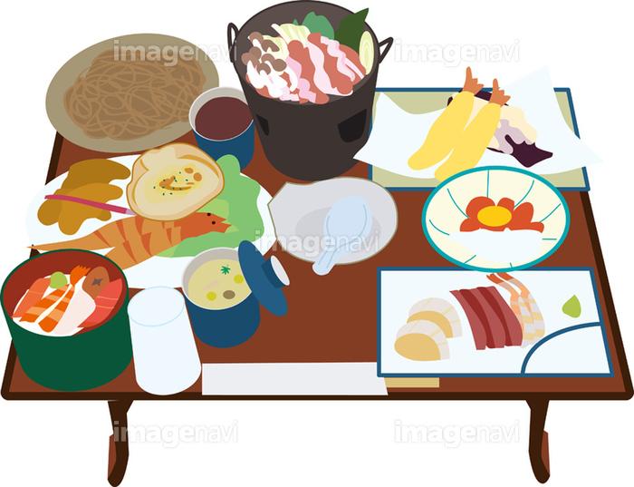 温泉旅館の食事の画像素材14407439 イラスト素材ならイメージナビ