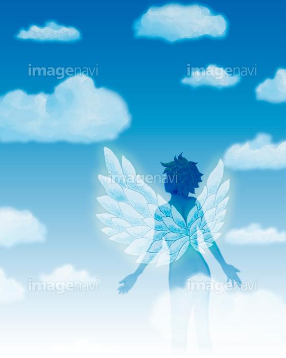 天使 羽 空 雲の画像素材16001167 イラスト素材ならイメージナビ