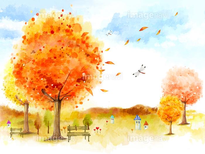 山 空 トンボ 樹木 田舎 綺麗 秋 の画像素材 イラスト素材ならイメージナビ