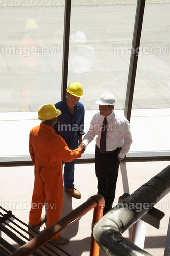 Factory Workers at Water Treatment Plant