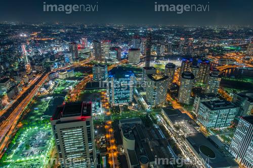 横浜みなとみらいのビル群夜景
