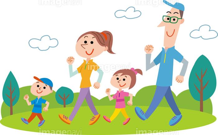 ウォーキング家族の画像素材21980162 イラスト素材ならイメージナビ