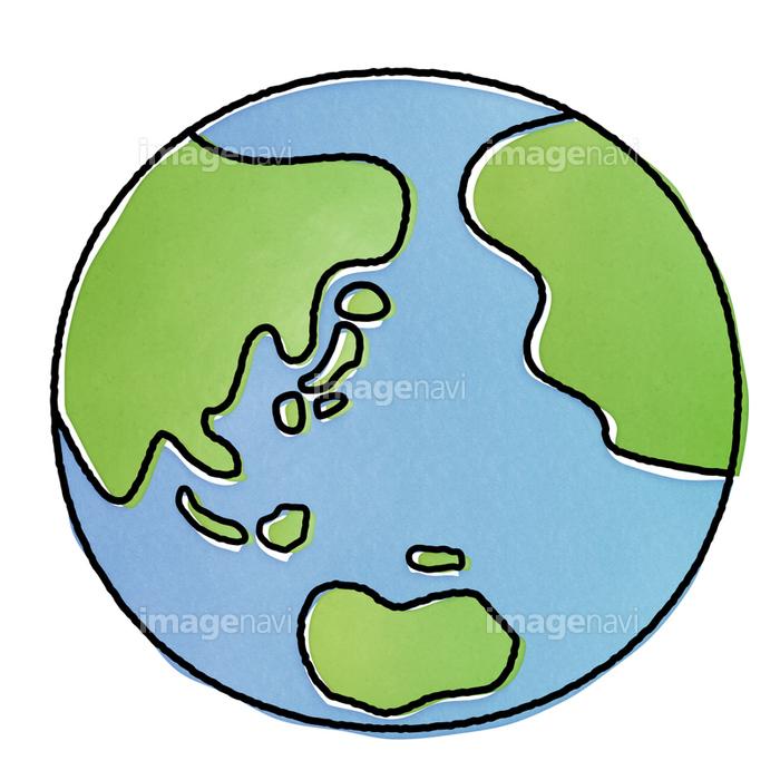 手書き風地球のクリップアート の画像素材 イラスト素材ならイメージナビ