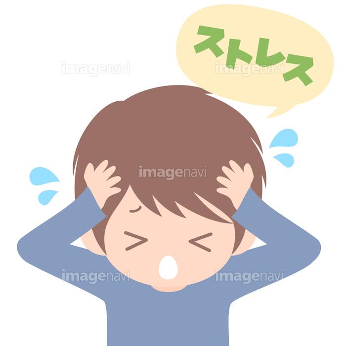 ストレスを抱える男性のクリップアートの画像素材31017822