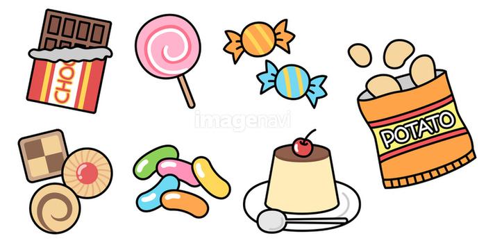 お菓子スイーツのクリップアート セットの画像素材31022969