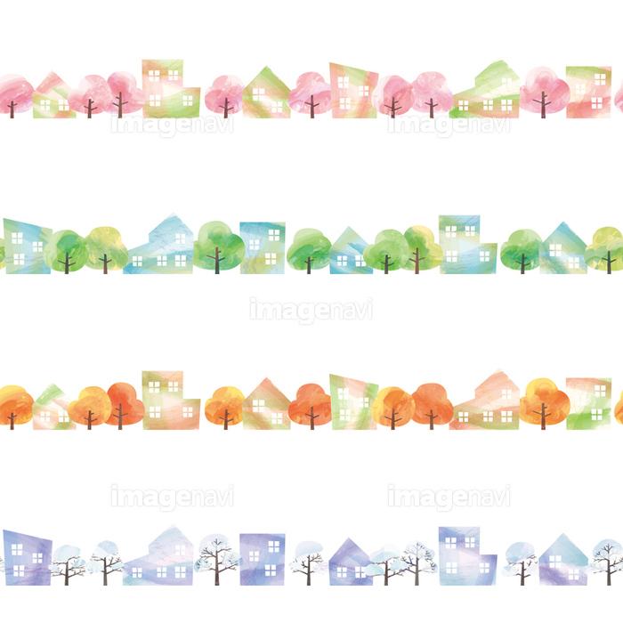 街並・春夏秋冬】の画像素材(31073110) | イラスト素材ならイメージナビ