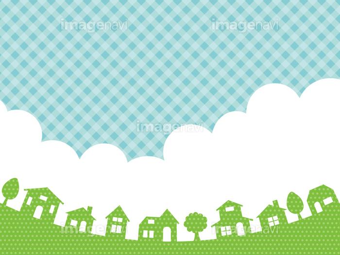 街並みと空の背景素材の画像素材31087712 イラスト素材なら