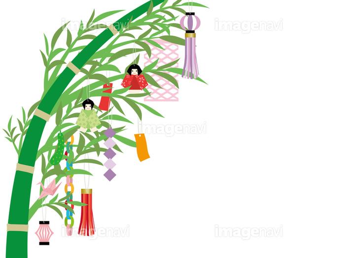 七夕 笹飾りのフレームの画像素材31110895 イラスト素材なら