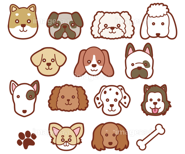 犬の顔イラストの画像素材31114660 イラスト素材ならイメージナビ