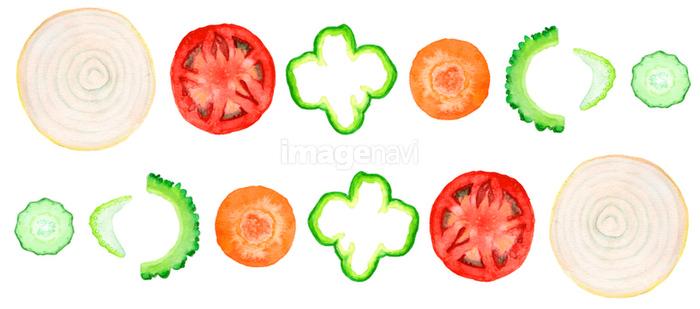輪切り野菜の切り口の画像素材31143772 イラスト素材ならイメージナビ