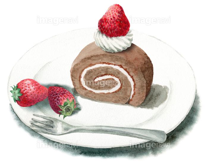 ロールケーキといちごの画像素材31143891 イラスト素材なら