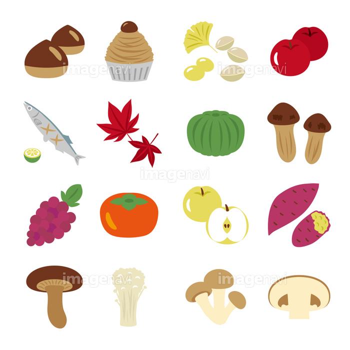 秋の味覚 アイコン素材セットの画像素材31150517 イラスト素材なら