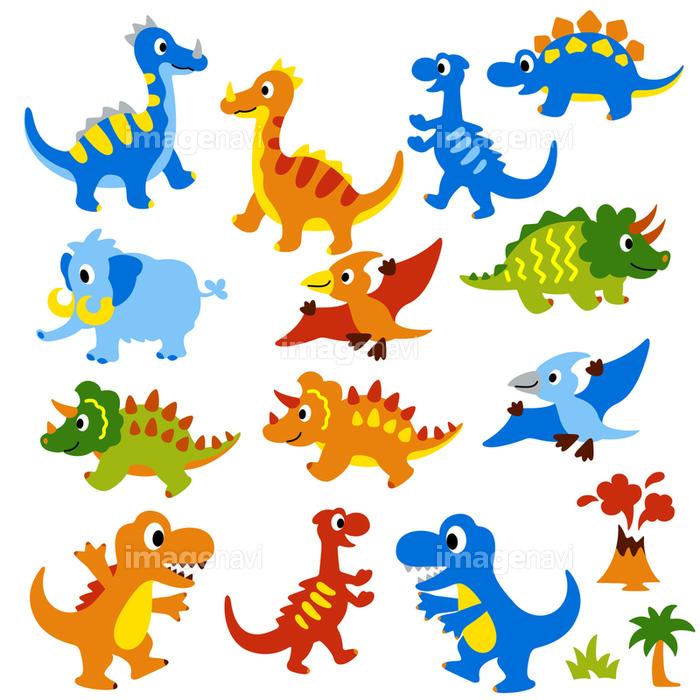 可愛い恐竜のイラストの画像素材31185437 Cg素材ならイメージナビ