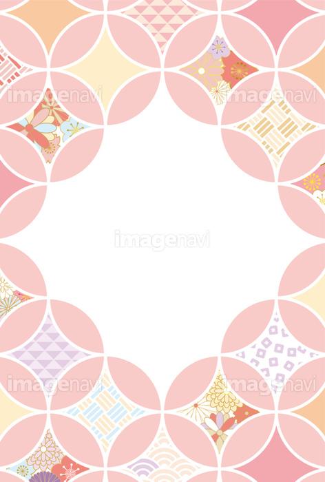和柄のフレーム素材はがきサイズの画像素材31194453 イラスト