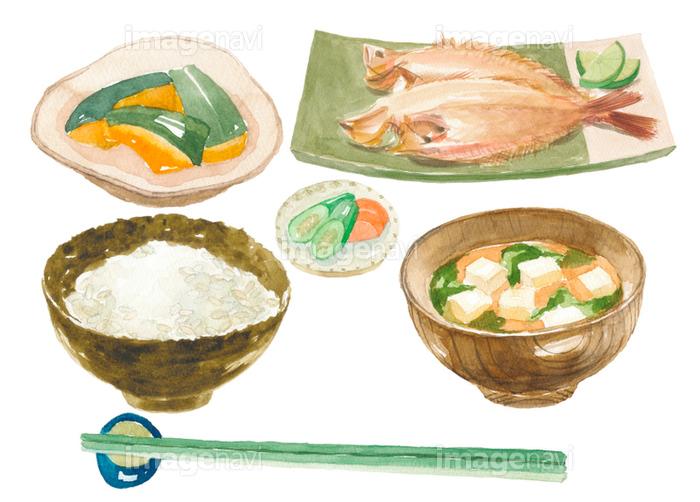 焼き魚定食 鰈の画像素材31249368 イラスト素材ならイメージナビ