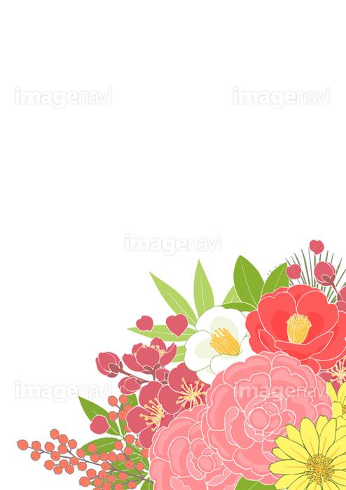 お正月の花背景タテの画像素材31252581 イラスト素材ならイメージナビ