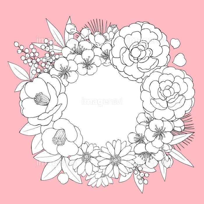 お正月の花 リース の画像素材 イラスト素材ならイメージナビ