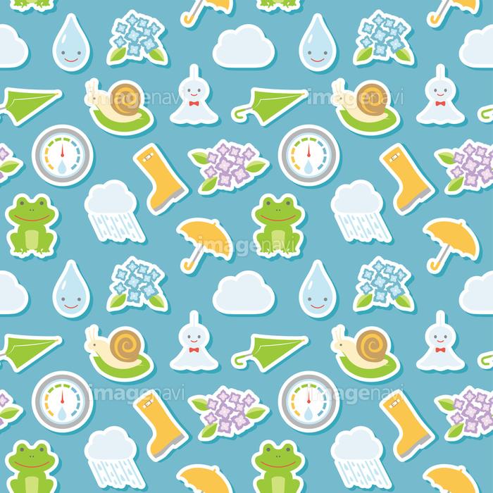 梅雨のイラスト シームレスパターンの画像素材31288359 イラスト