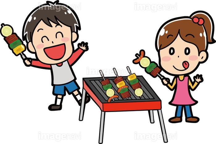 バーベキューをする子供たちのイラスト素材の画像素材31291423