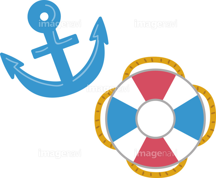 錨と浮き輪のイラスト素材の画像素材31296332 イラスト素材なら