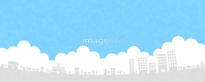 住宅街と空の画像素材31302221 イラスト素材ならイメージナビ
