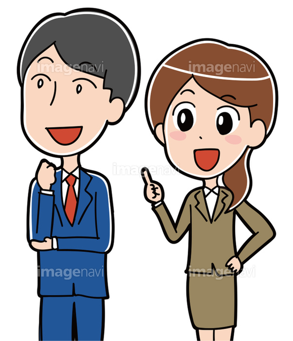説明をするスーツの男女イラストの画像素材31312505 イラスト素材