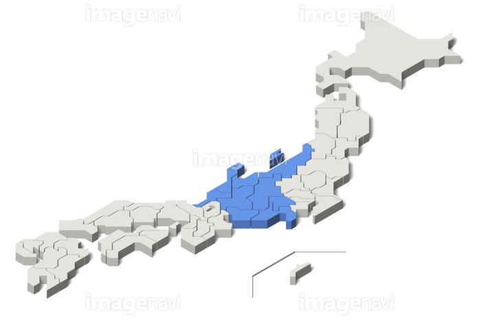 日本地図 中部地方 アイソメトリック Set 1 の画像素材 地図素材ならイメージナビ