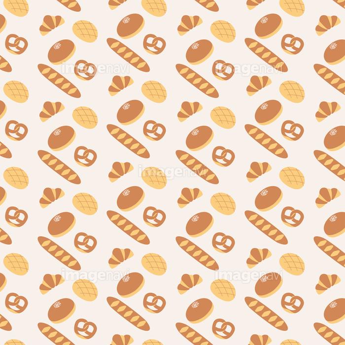 かわいいパンの壁紙イラスト 3色 の画像素材 イラスト素材ならイメージナビ