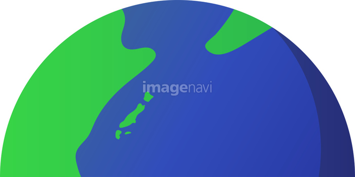 地球の上半分 の画像素材 イラスト素材ならイメージナビ