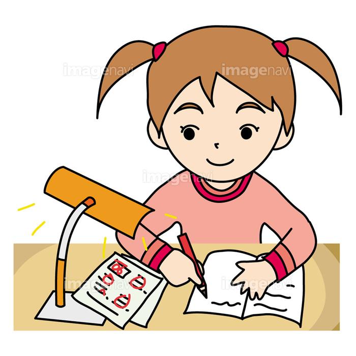 宿題をする小学生の画像素材40303800 イラスト素材ならイメージナビ