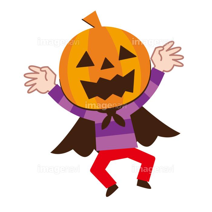 ハロウィン 仮装 かぼちゃの画像素材41140209 イラスト素材なら