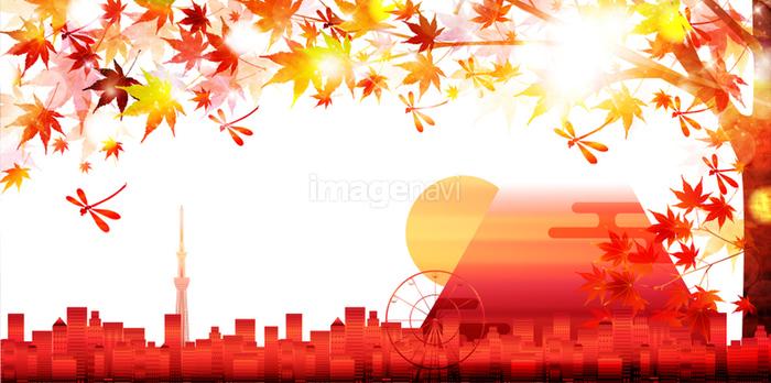 紅葉 富士山 秋 背景の画像素材41141531 イラスト素材ならイメージナビ