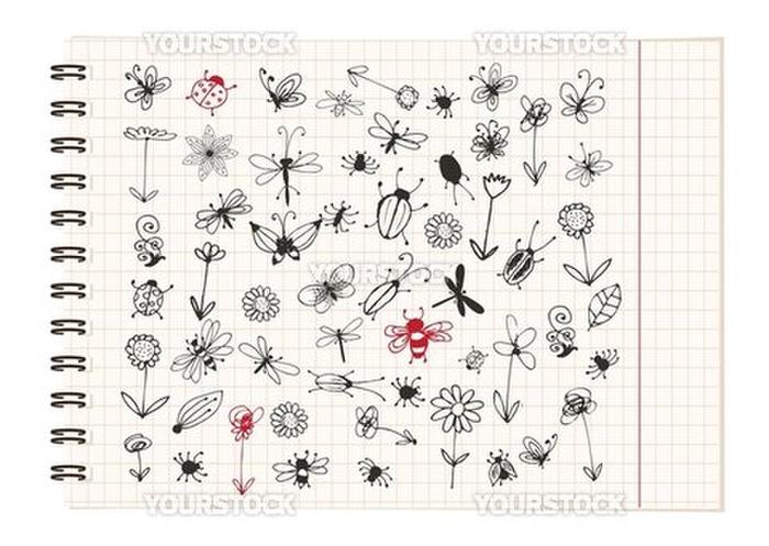 脚 アリ 蚊 ゴキブリ 自然 手書き の画像素材 イラスト素材ならイメージナビ