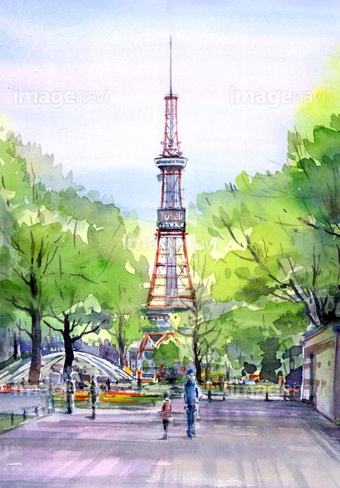 大通公園テレビ塔の画像素材50069387 イラスト素材ならイメージナビ