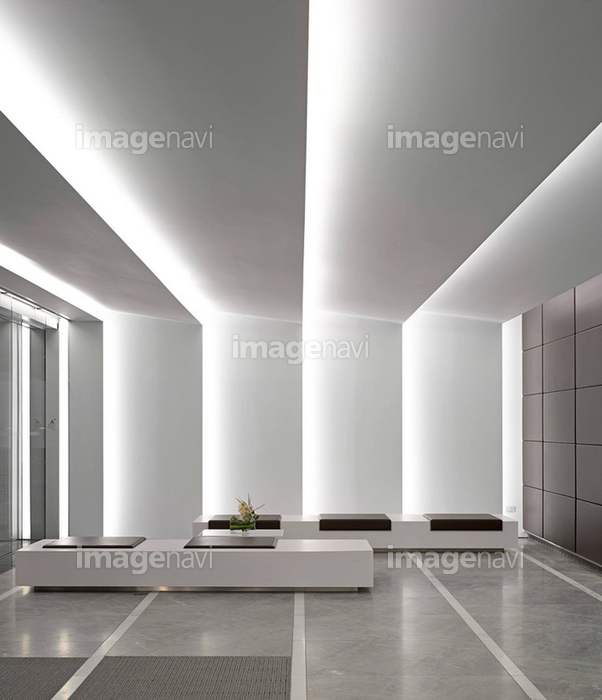 ビル オフィスビル デザイン建築 壁 受付 操作 モダン 上品 の画像素材