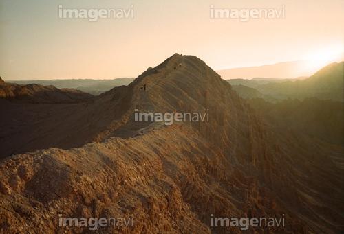 サン・ペドロ・デ・アタカマ 月の谷の夕陽