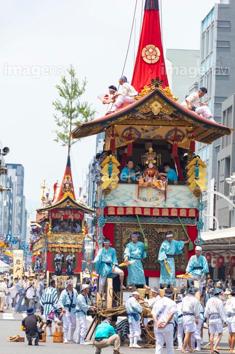 祇園祭の山鉾巡行(前祭) 放下鉾と岩戸山】の画像素材(70471818 ...